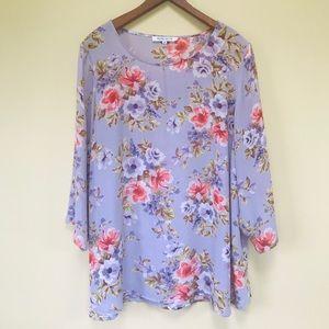 3/$20 Purple Floral Tunic